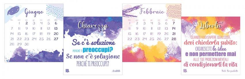 Calendario delle Emozioni 2020 - Mesi