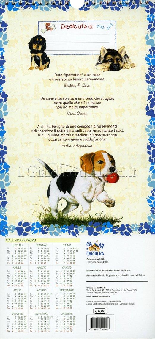 Calendario 2019 - Cani in Carriera - Retro