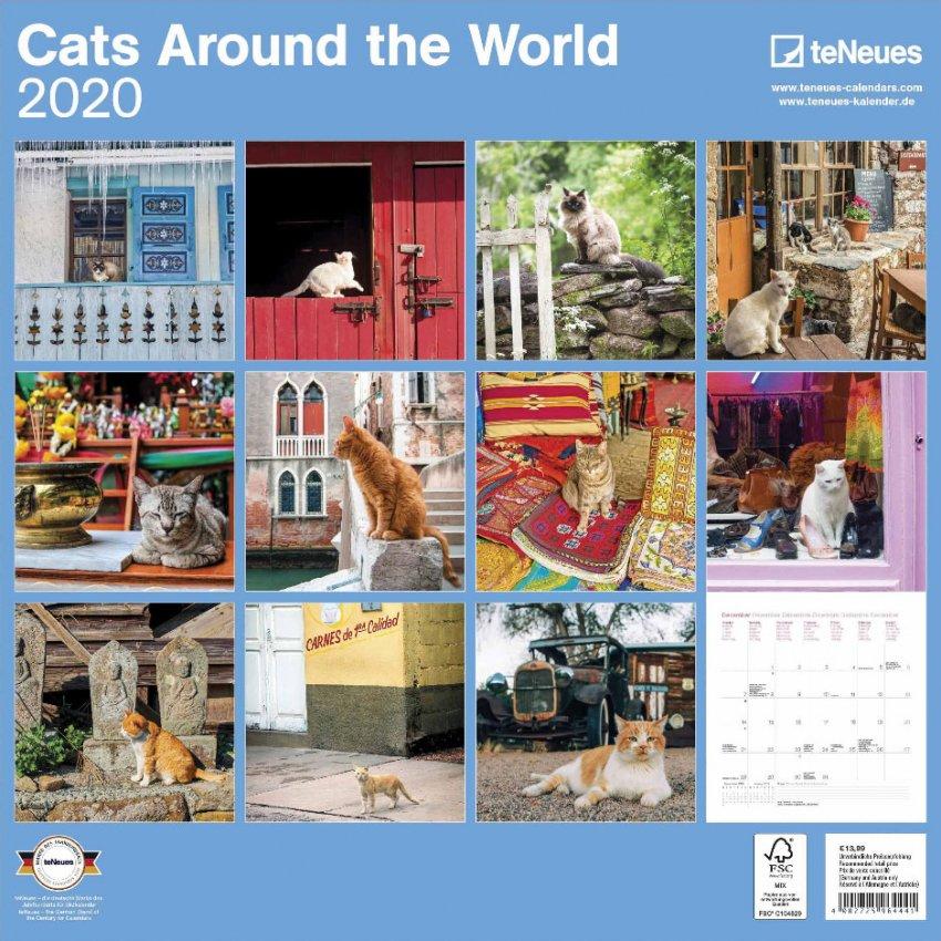 Calendario Cats Around the World 2020 - Retro