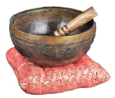 Cuscino per Campana Tibetana Rosso Piccolo - cm 12