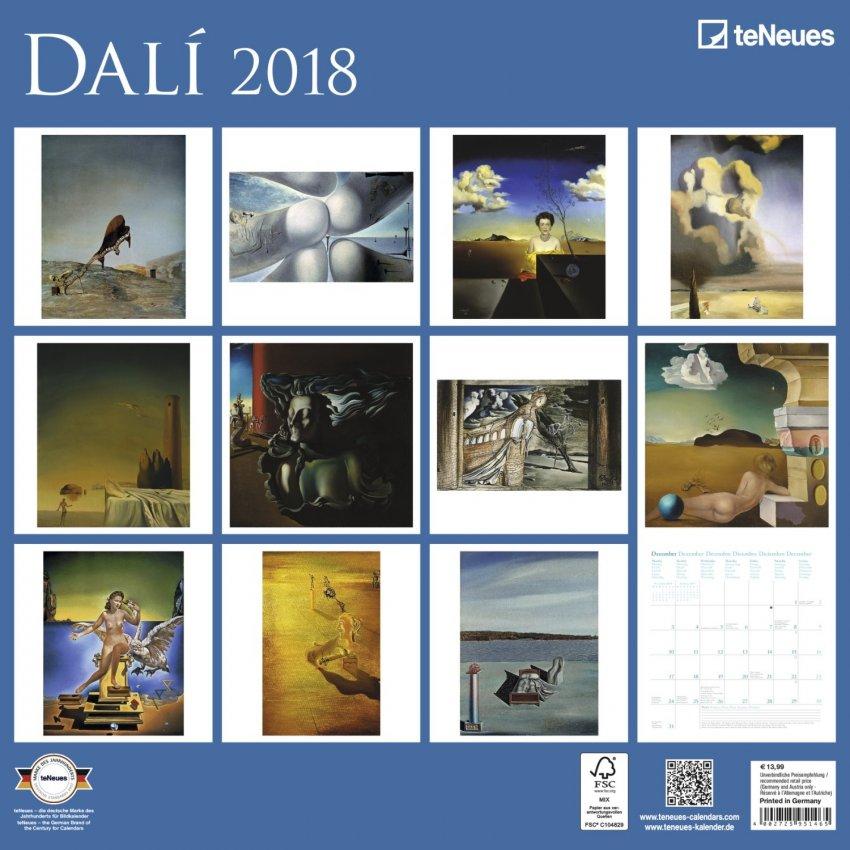 Calendario Dalì 2018 - Retro