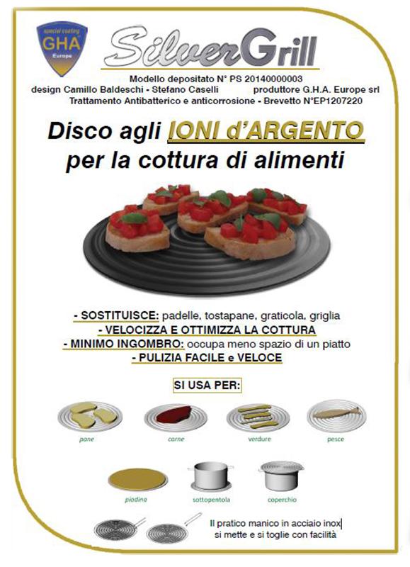 Disco per la Cottura degli Alimenti con Manico - Silver Grill
