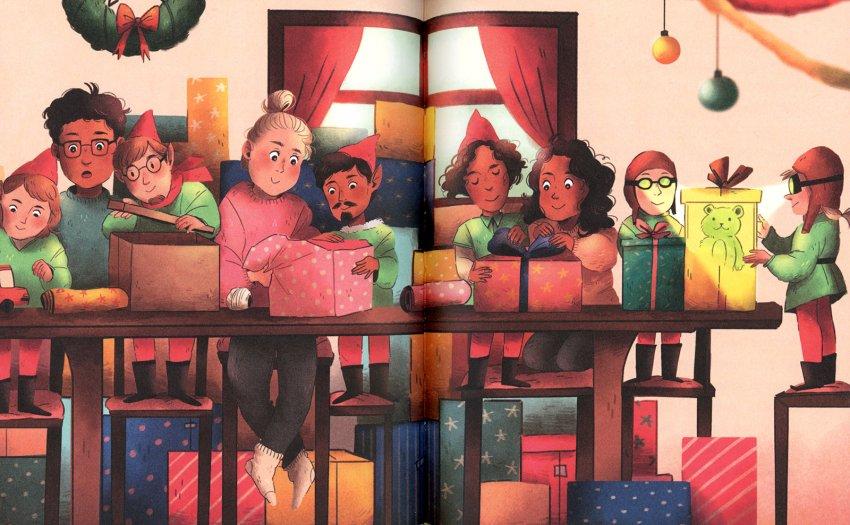Elfi al Quinto Piano - illustrazione