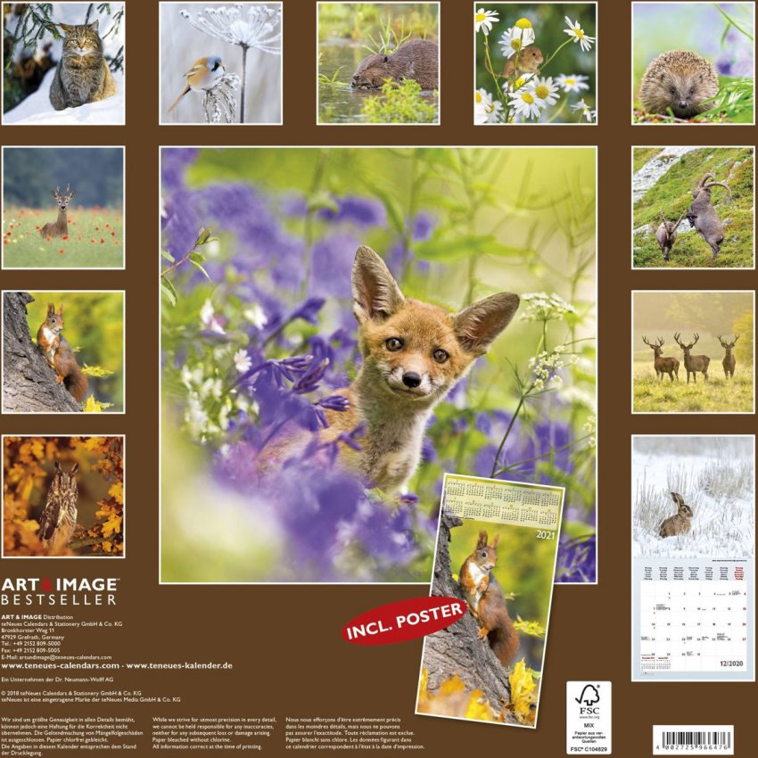Calendario Forest Animals 2020 - Retro
