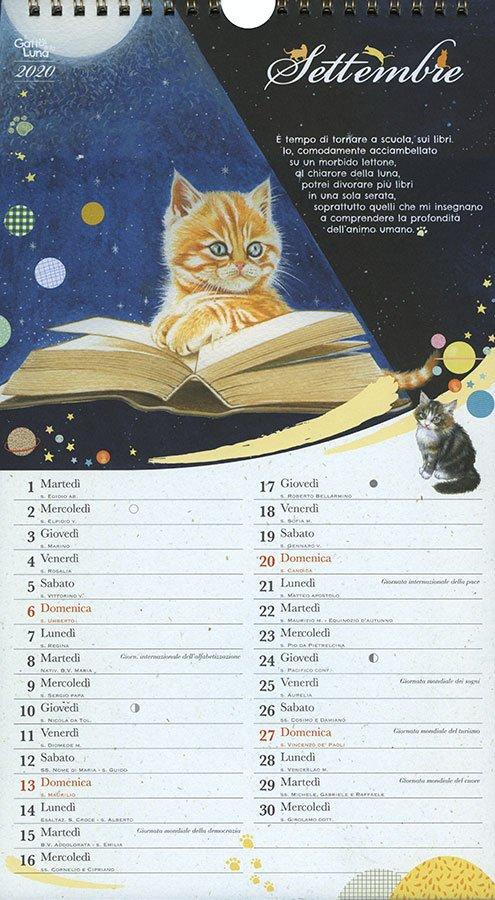 Calendario 2020 - Il Gatto e la Luna - Interno