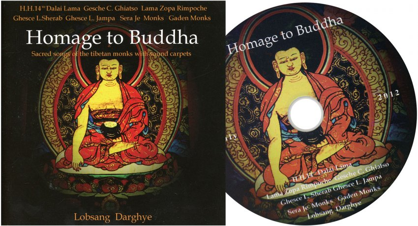 Homage to Buddha - Interno cd