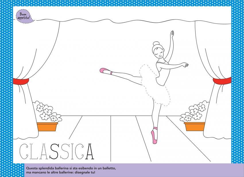 Disegna e Colora le Tue Tovagliette delle Ballerine
