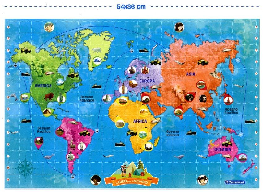 In Giro per il Mondo - Sapientino Più - Cartina
