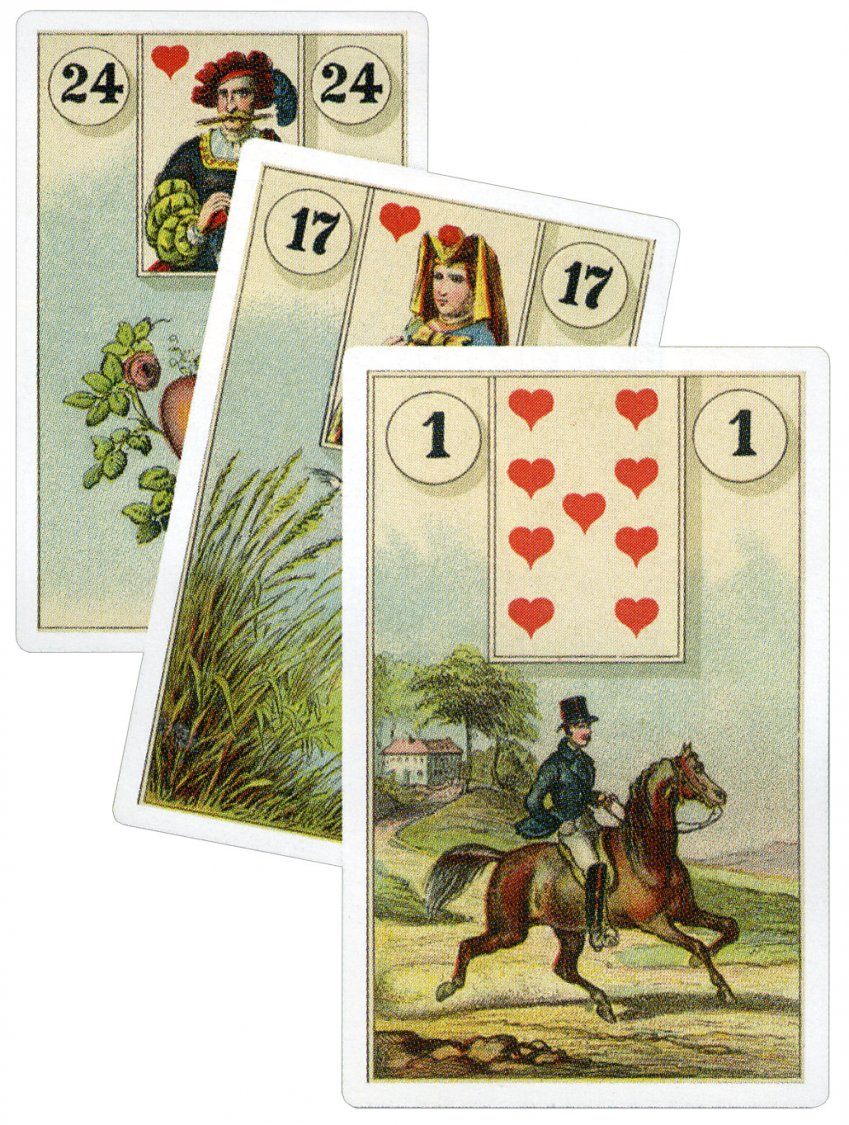 Lenormand Oracle - Cofanetto Libro in Inglese con 36 Carte