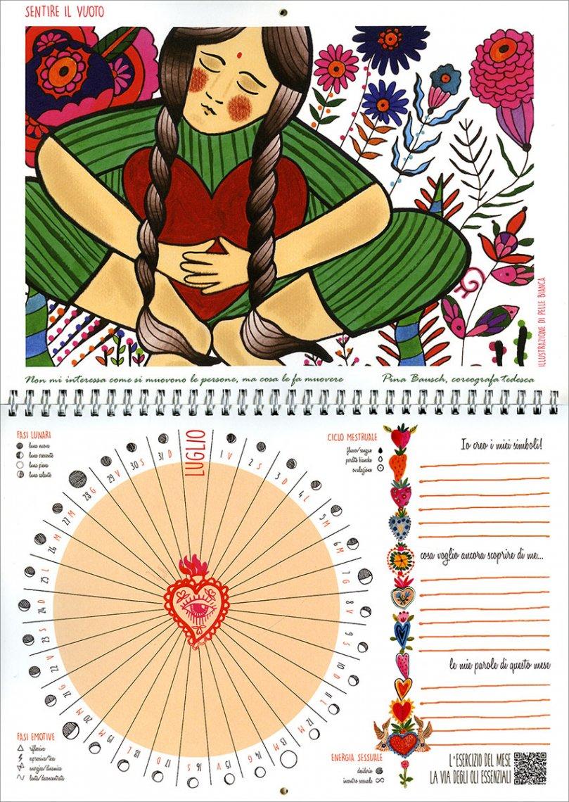 Lunario della Dea - Calendario Mestruale 2022 - Interno