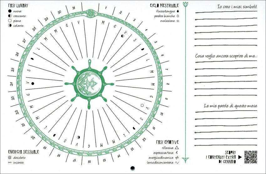Lunario della Dea - Calendario Mestruale 2020 - interno