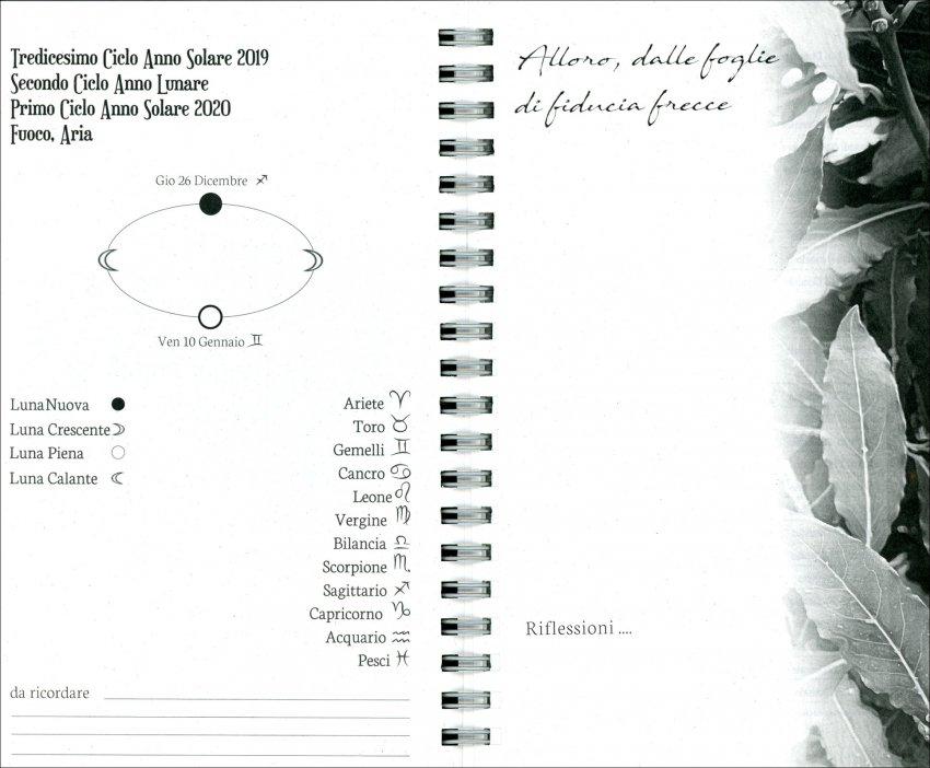Agenda Lunare - Lunario delle Herbarie 2020 - pagine interne