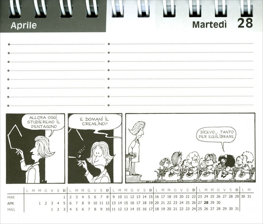 Calendario da Tavolo 2020 - Mafalda