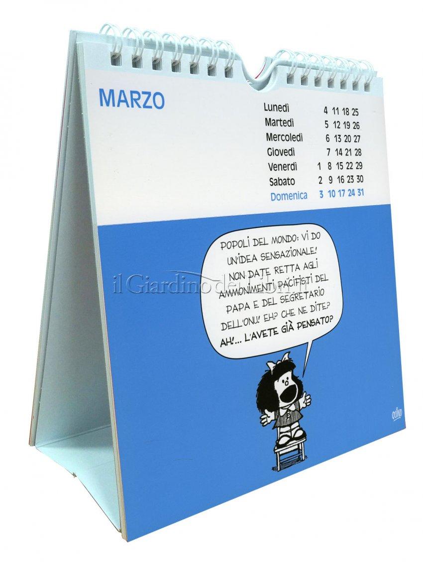 Mafalda - Calendario con Cartoline 2019 - Aperto
