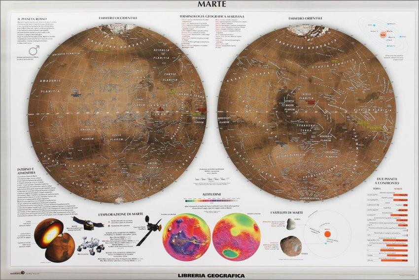 Carta Murale Astronomica - Marte