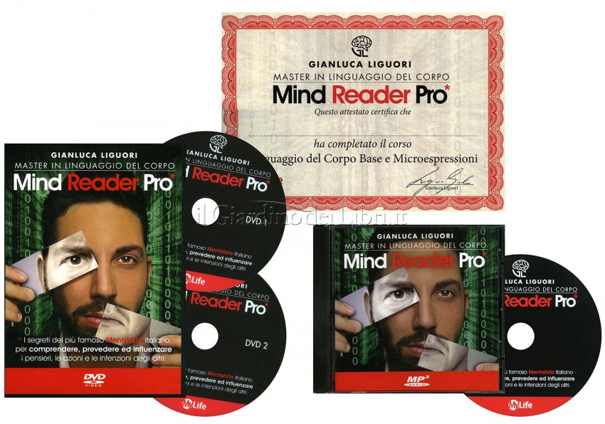 Master in Linguaggio del Corpo - Mind Reader Pro - Cofanetto con 2 DVD e 1 CD Mp3