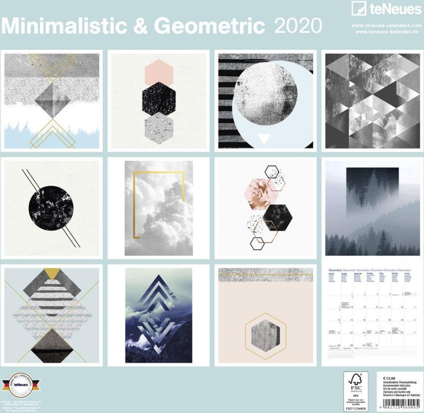 Calendario Minimalistic & Geometric 2020 - Retro