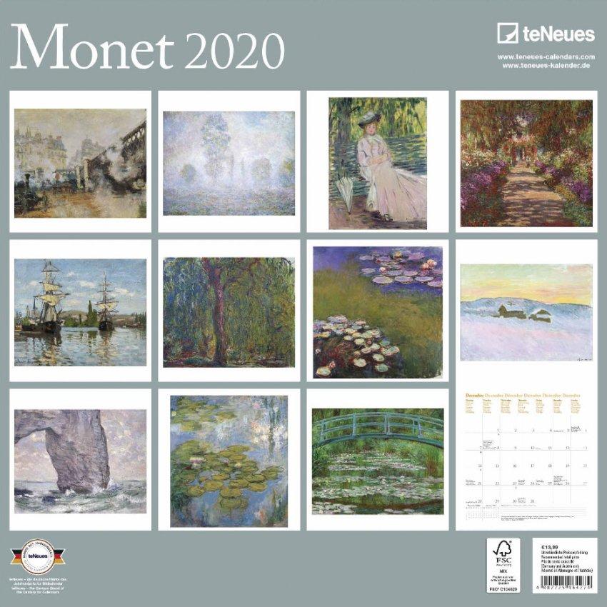 Calendario Monet 2020 - Retro