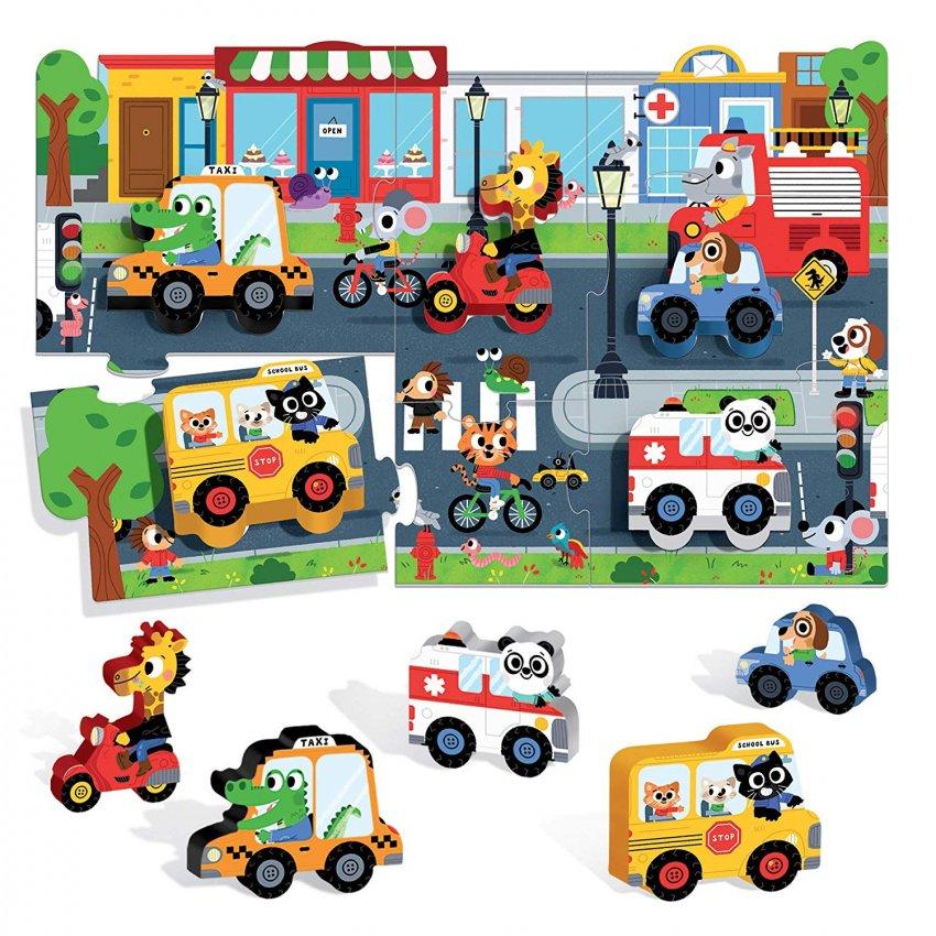 Montessori My First Puzzle The City - La Città - Interno