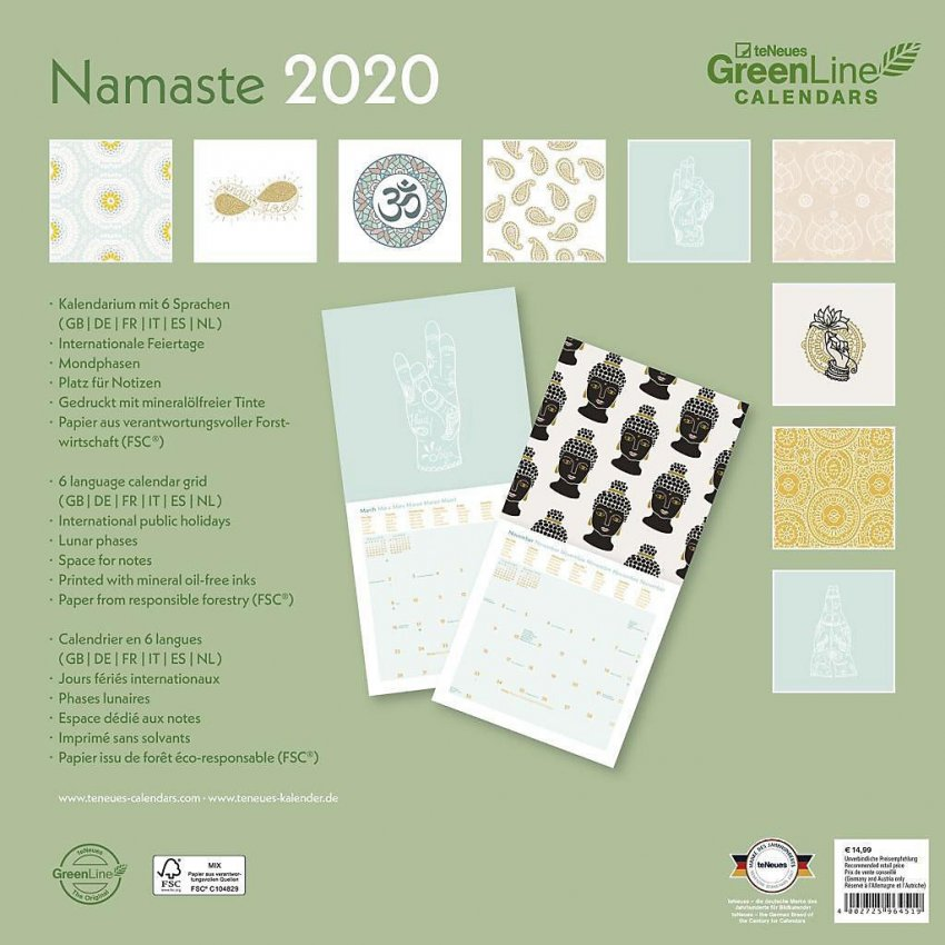 Calendario Namaste 2020 - Retro