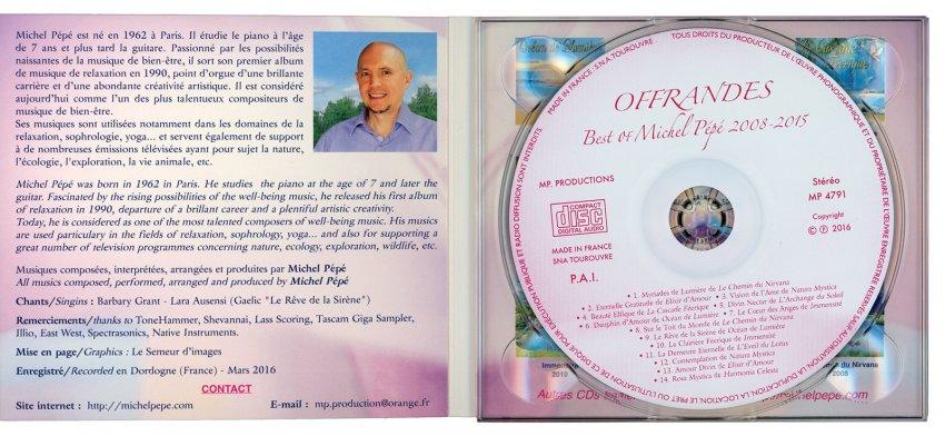 Offrandes - CD aperto