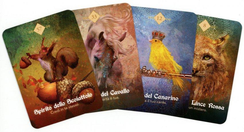 L'Oracolo degli Spiriti Animali - esempio delle carte