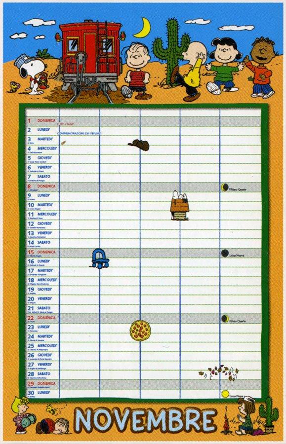 Peanuts - Calendario Agenda 2020 - Interno