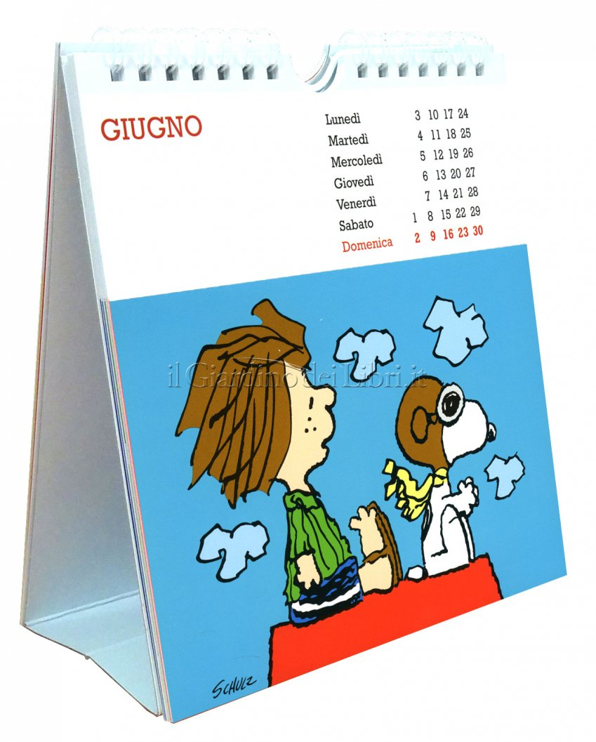 Peanuts - Calendario con Cartoline 2019 - Aperto