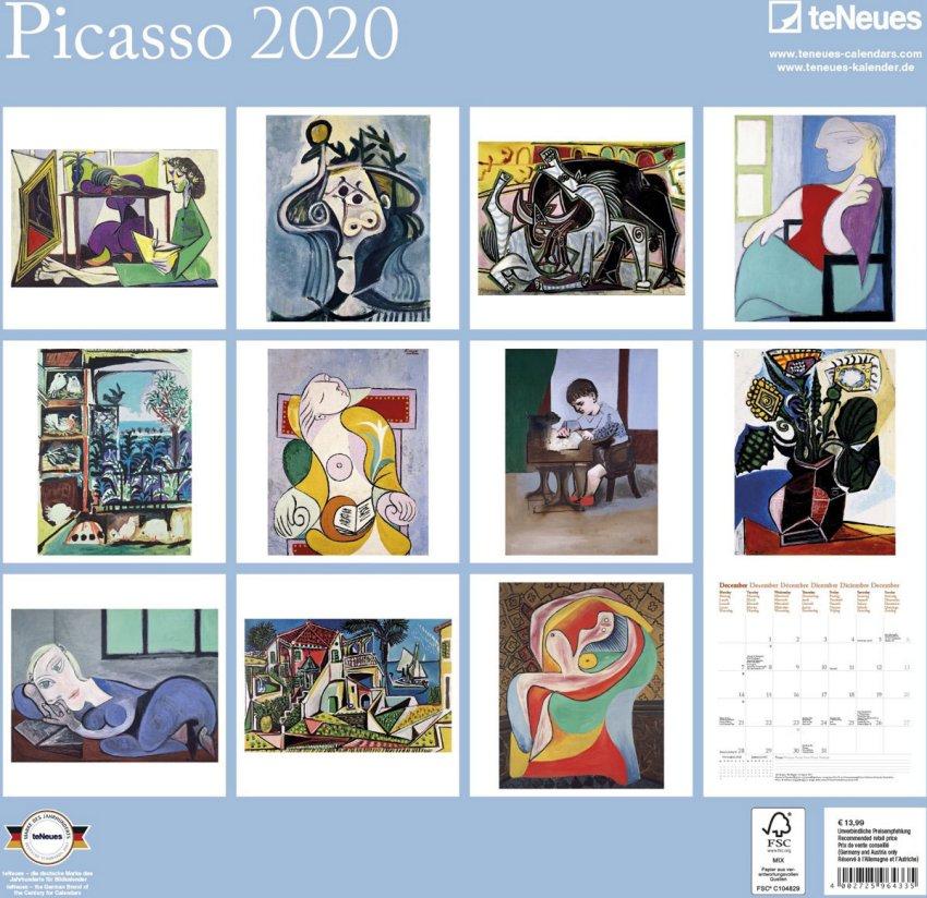 Calendario Picasso 2020 - Retro