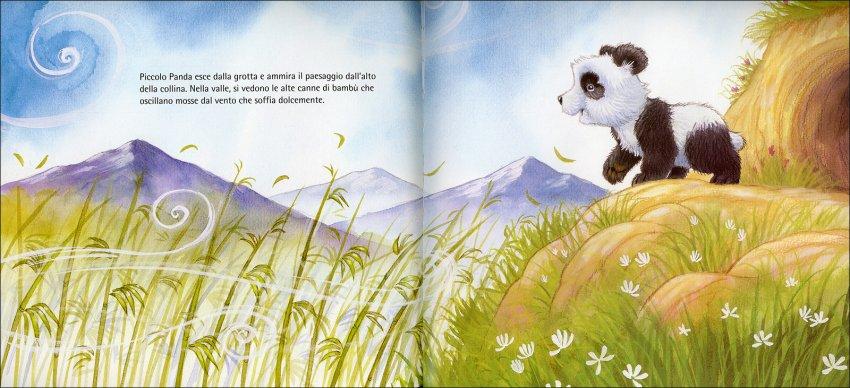 Il Piccolo Panda Felice - il cucciolo di panda ammira il paesaggio