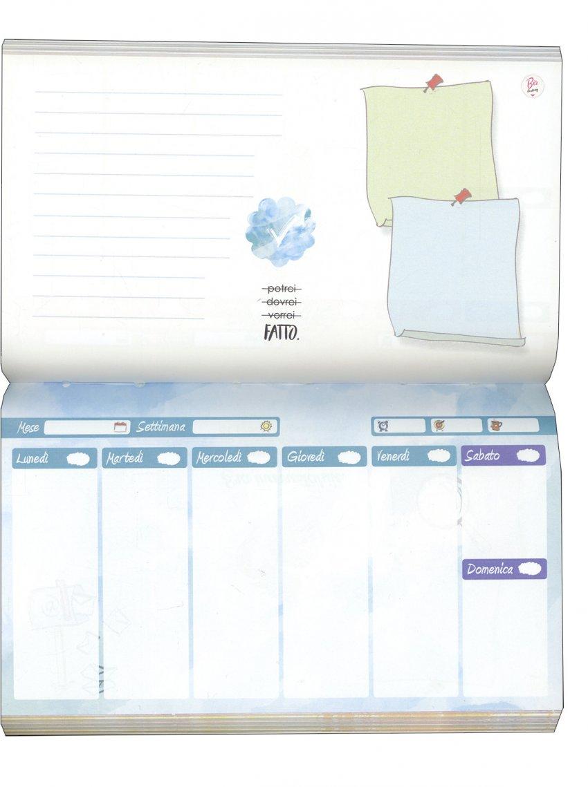 Planner pagine interne azzurre