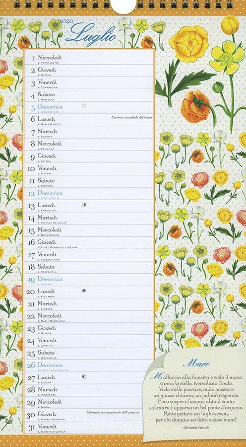 Calendario 2020 - Poesie in Fiore - Interno