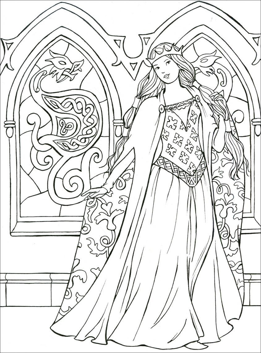 Principesse Da Colorare Macro C Arte Libro