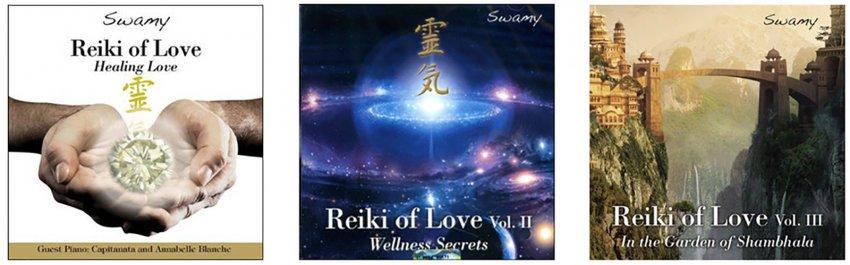 Reiki Master Box - Cofanetto 3 CD - foto dei tre cd di Swamy