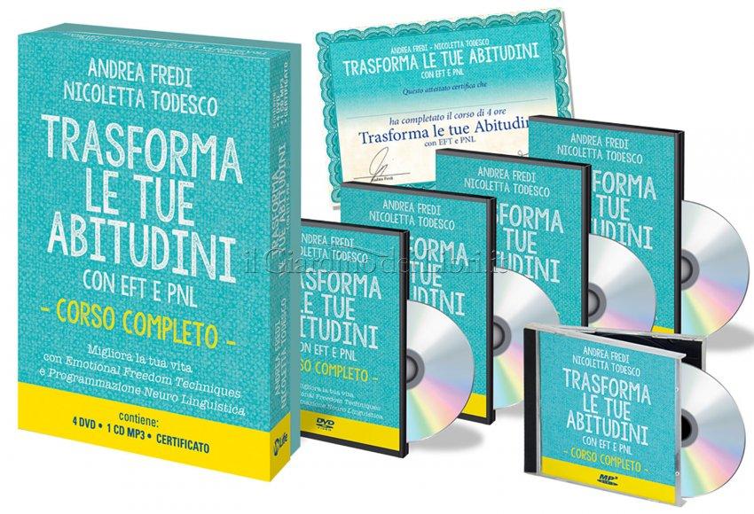 Trasforma le Tue Abitudini con EFT e PNL - Videocorso con 4 DVD e 1 CD Mp3