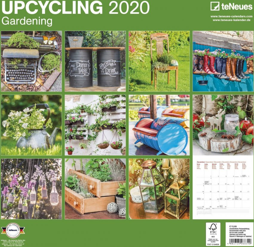 Calendario Upcycling Gardening 2020 - Retro
