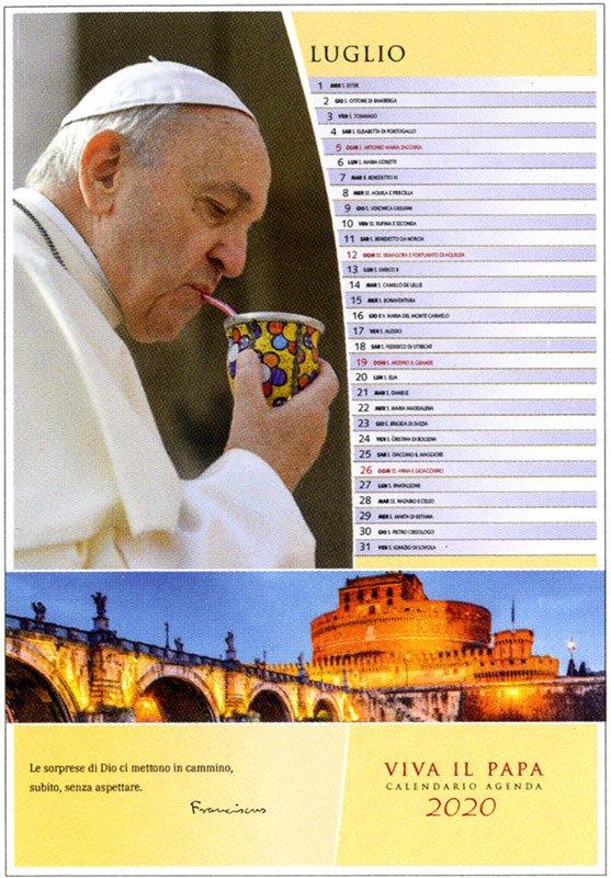 Viva il Papa - Calendario Agenda 2020