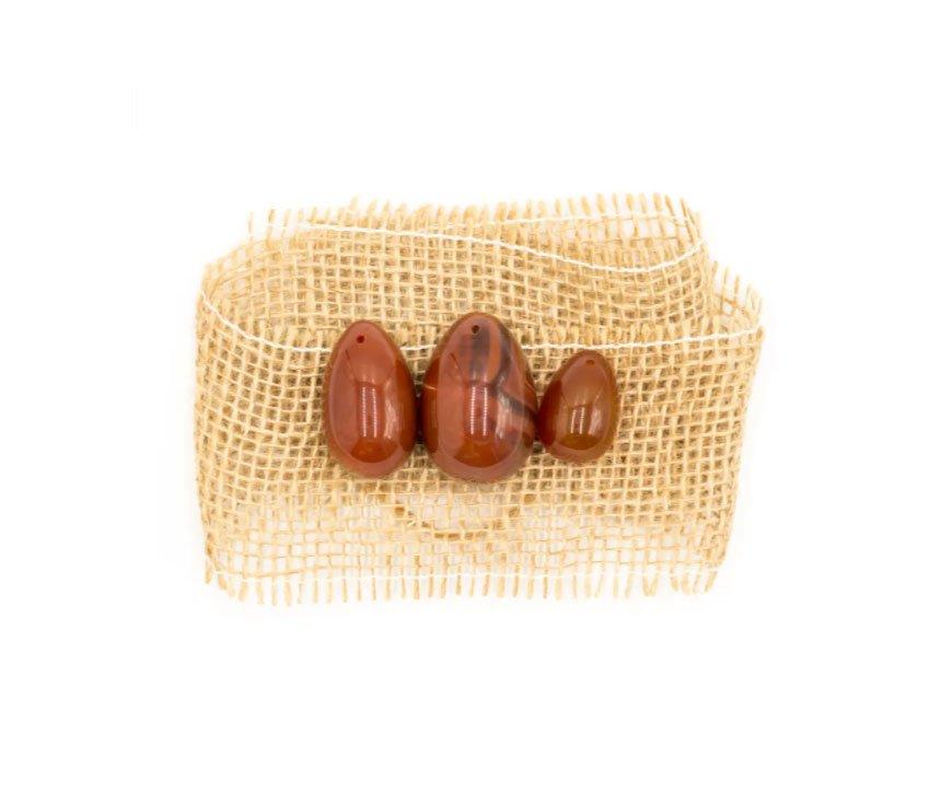 Yoni Egg - Pietra Ovale Corniola Small