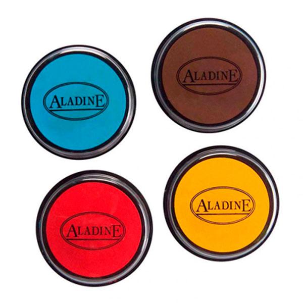 Aladine Tampominos - Quattro Tamponi Colorati: Giallo, Rosso, Azzurro, Marrone