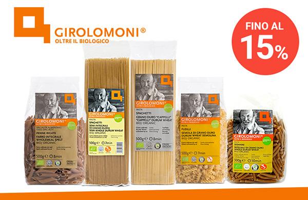 Sconti fino al 15% - Pasta Girolomoni