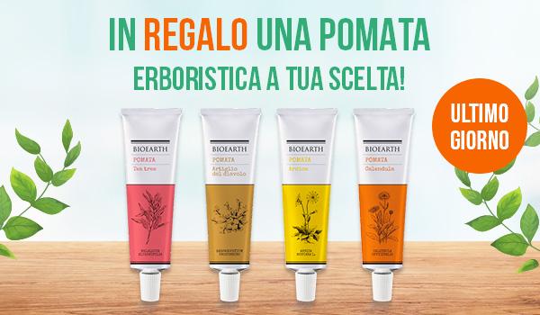 Ultimo Giorno - In Regalo una Pomata Erboristica a tua scelta!
