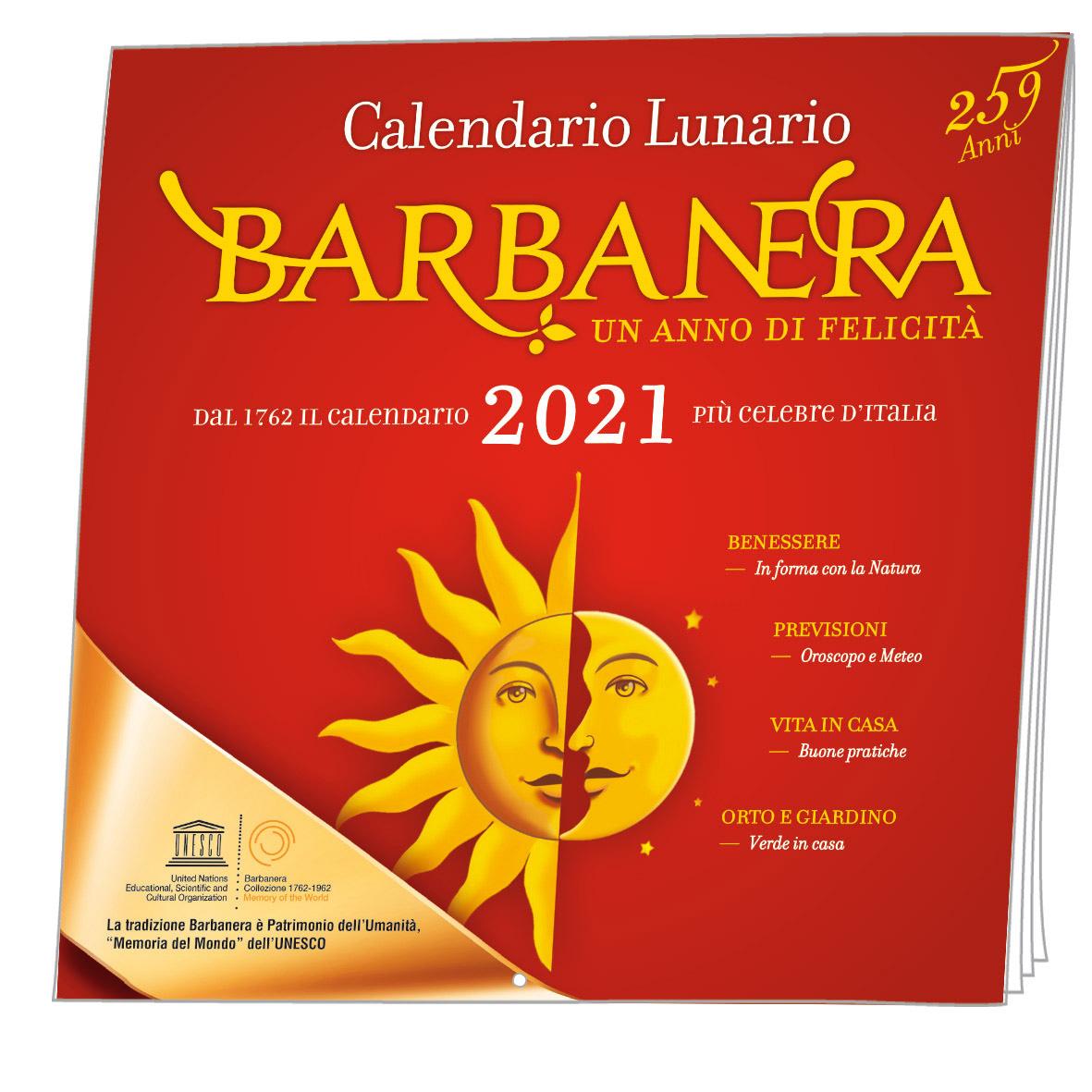 Barbanera   Calendario Lunario 2021   Il Barbagianni Editore