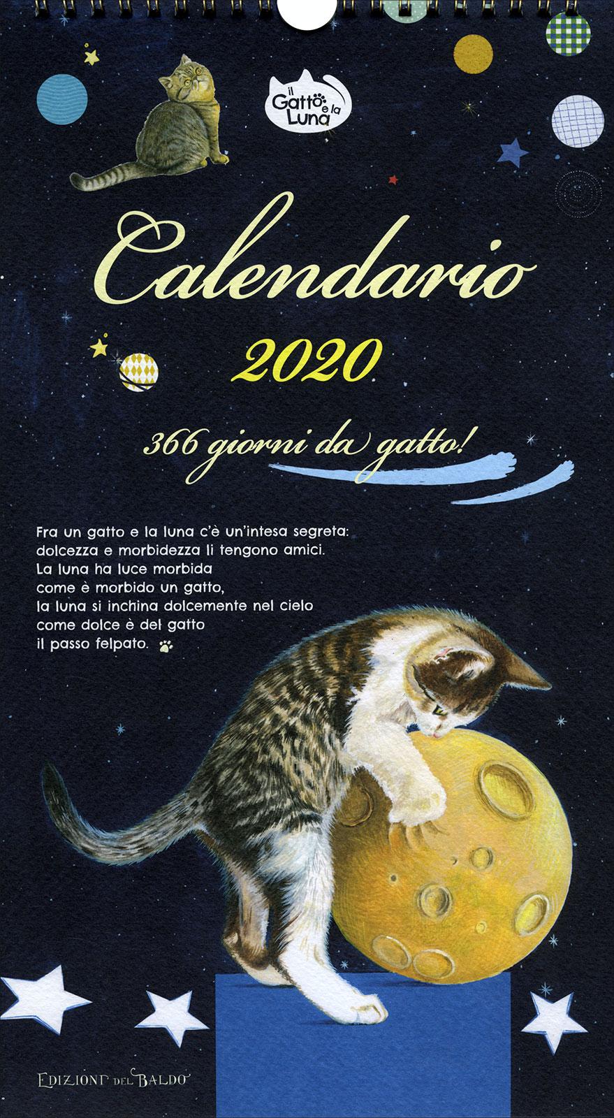Calendario Lunare 2020 2020.Calendario 2020 Il Gatto E La Luna