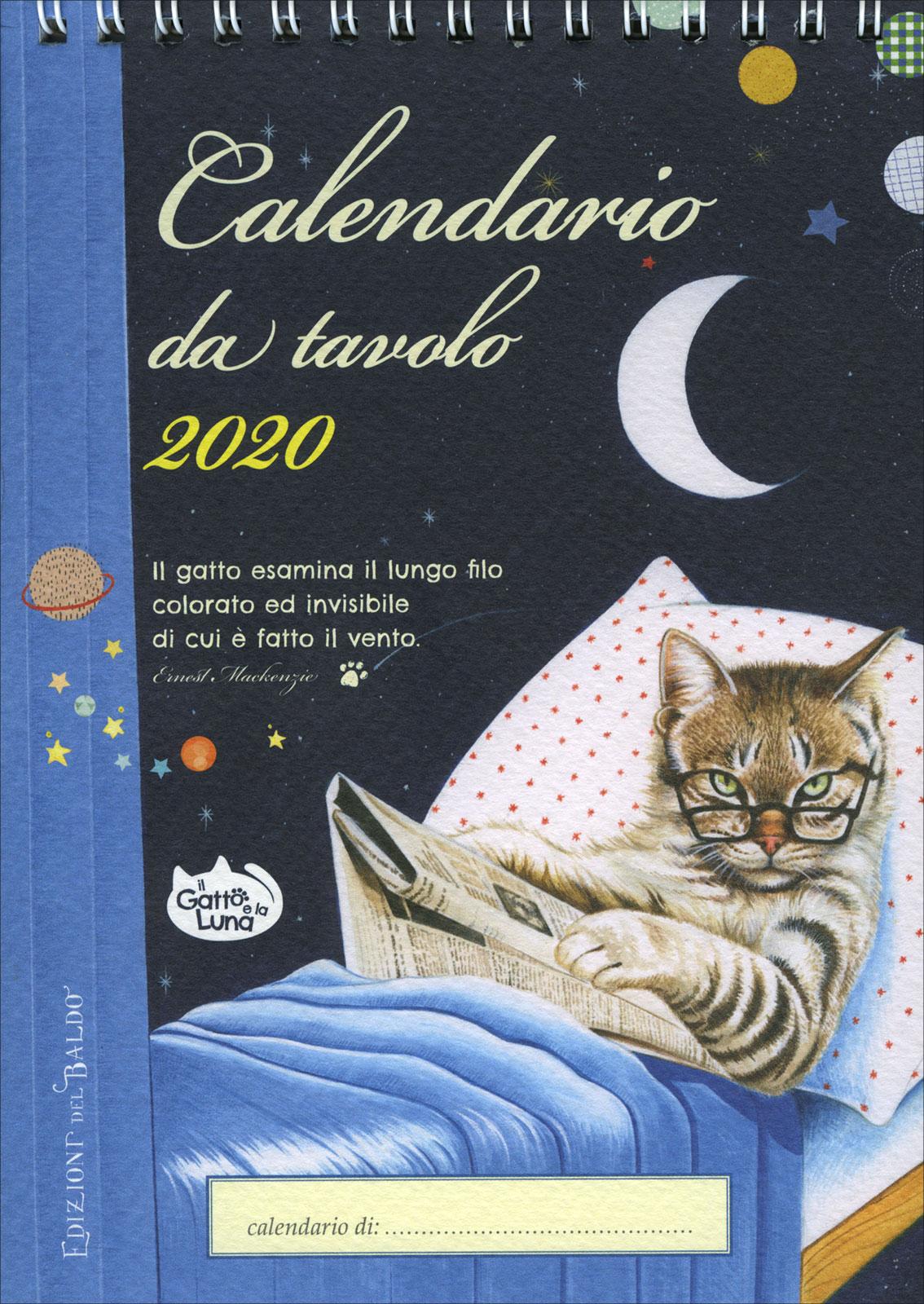 Calendario Da Scrivania 2020.Il Gatto E La Luna Calendario Da Tavolo 2020