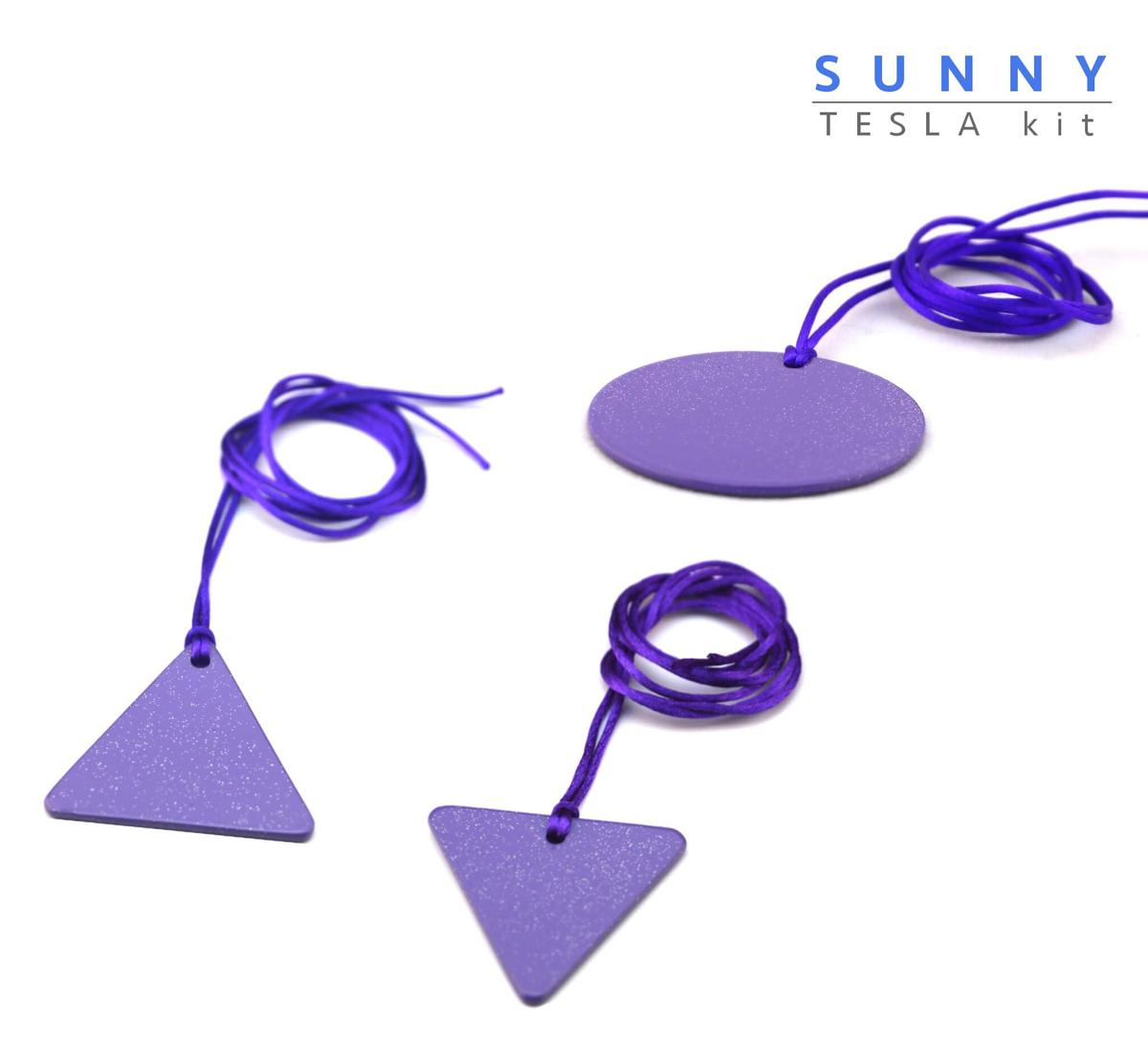 Piastre Di Tesla Funzionano sunny piastre di tesla purpuree - kit partner