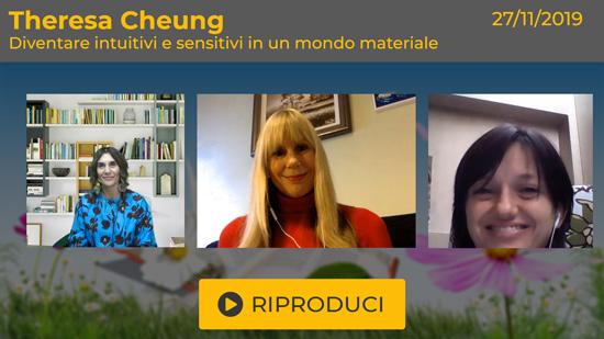 """Webinar Gratuito """"Diventare intuitivi e sensitivi in un mondo materiale"""" con Theresa Cheung"""