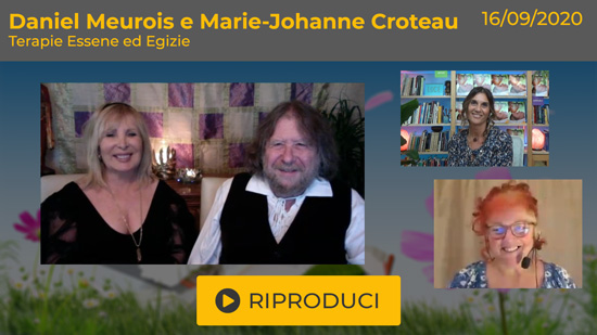 "Webinar Gratuito con Daniel Meurois e Marie Johanne Croteau-Meurois: ""Terapie Essene ed Egizie"""