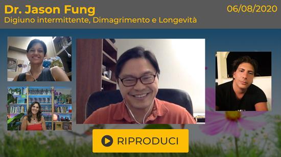 Webinar Gratuito con il Dr. Jason Fung: Digiuno Intermittente, Dimagrimento e Longevità