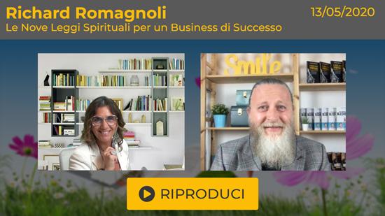 """Webinar Gratuito """"Le Nove Leggi Spirituali"""" con Richard Romagnoli"""
