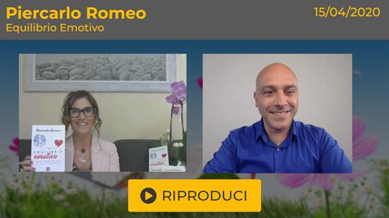 """Webinar gratuito """"Equilibrio Emotivo"""" con Piercarlo Romeo"""